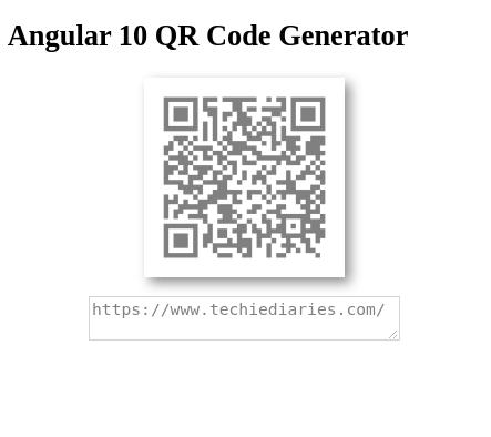 Angular 10 QR Codes
