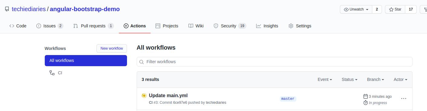 GitHub Workflow Progress