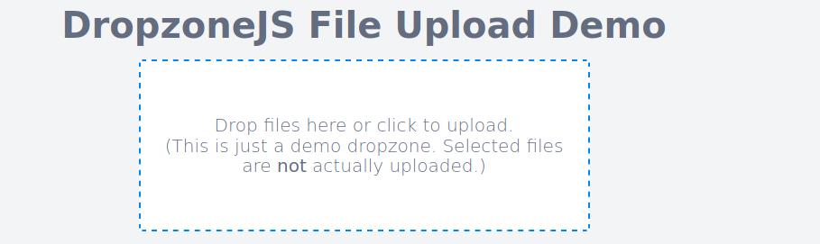 Ejemplo de carga de Laravel 8 Dropzone.js